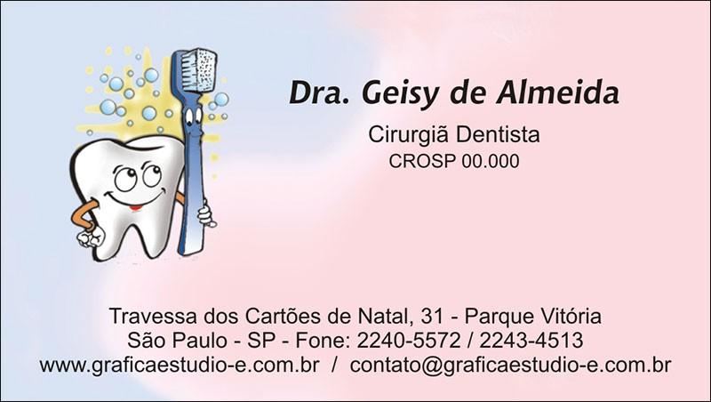 Cartão de Visita com Verniz - Cod: 001