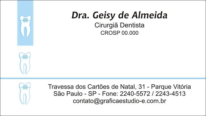Cartão de Visita com Verniz - Cod: 004 Azul CB