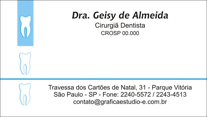Cartão de Visita com Verniz - Cod: 004 Azul SB