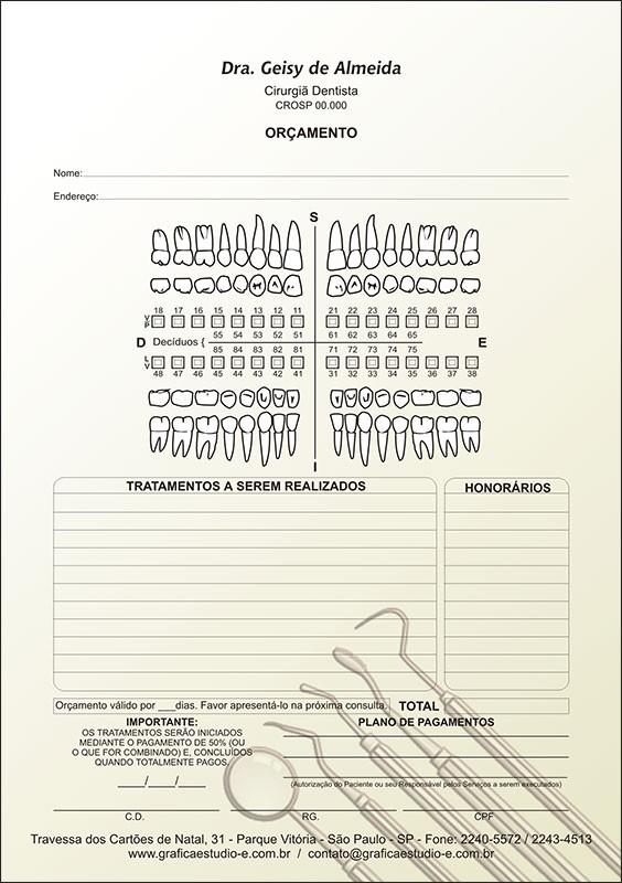 Orçamento Colorido - Modelo A - Cod: 009