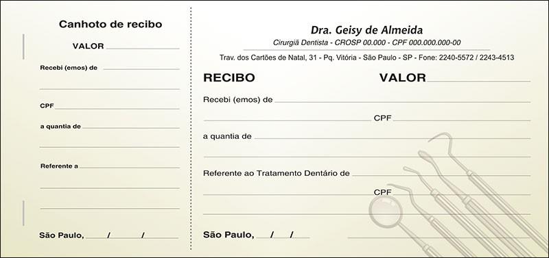 Recibo com Canhoto Colorido - Cod: 009