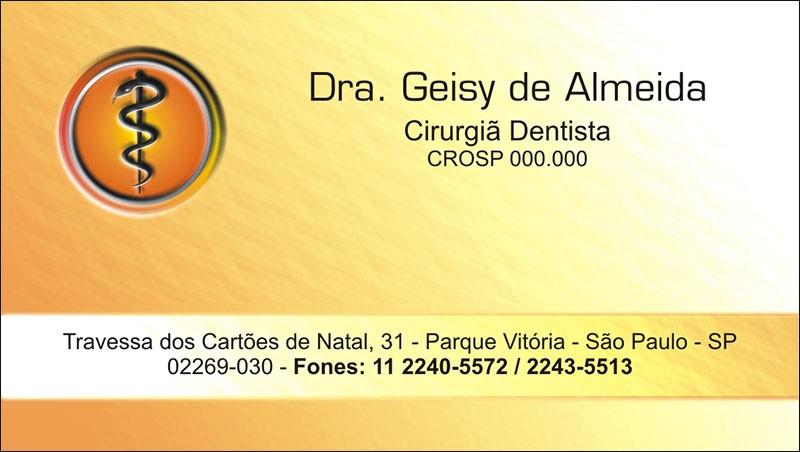 Cartão de Visita com Verniz - Cod: 011