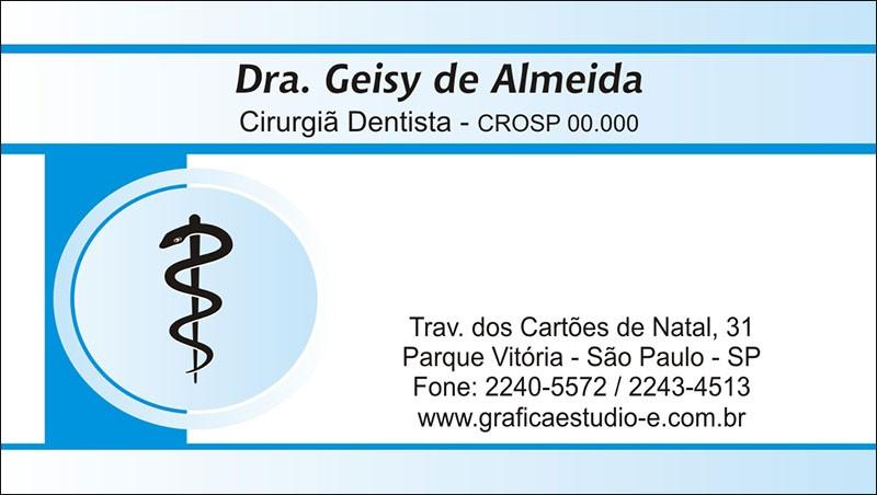 Cartão de Visita - Cod: 015 Azul