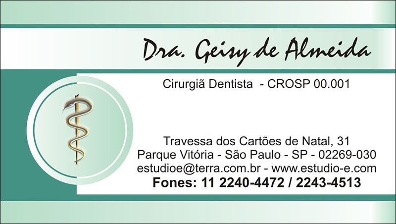 Cartão de Visita com Verniz - Cod: 015 Verde