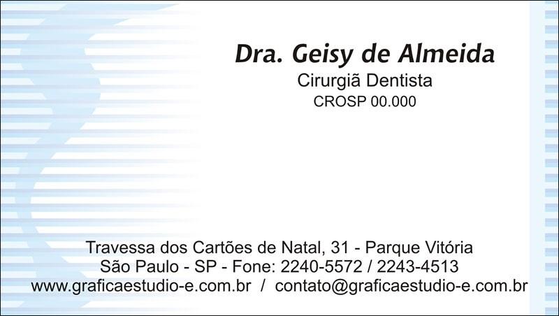 Cartão de Visita com Verniz - Cod: 018