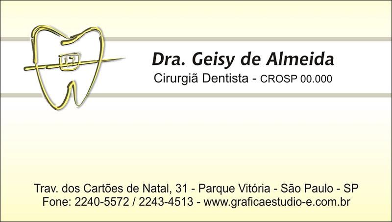 Cartão de Visita - Cod: 021 Amarelo