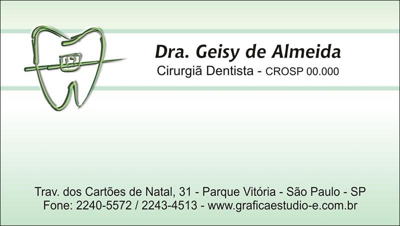 Cartão de Visita com Verniz - Cod: 021 Verde