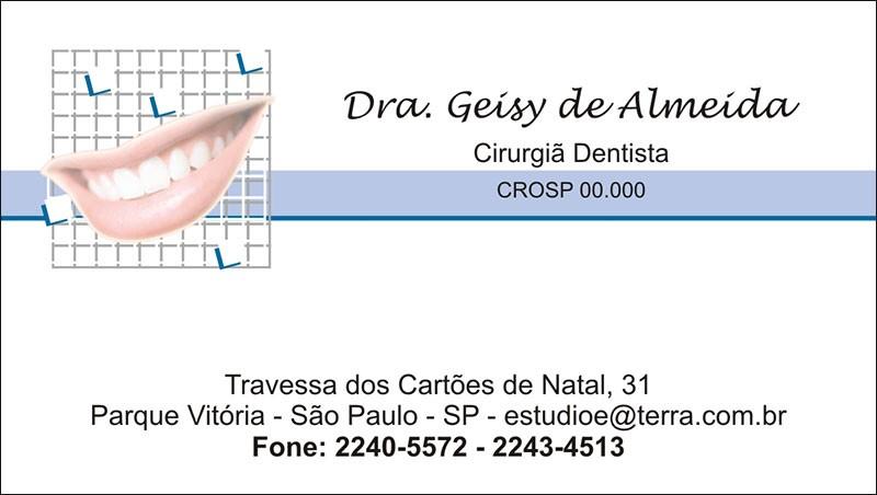Cartão de Visita com Verniz - Cod: 033