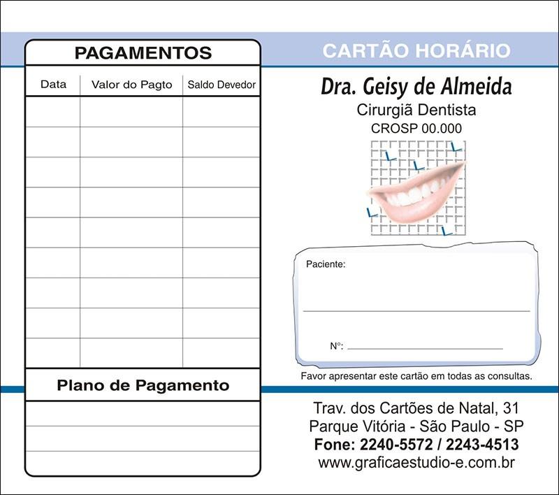 Carteirinha de Próxima Consulta e Pagamento Personalizado - Cod: 033