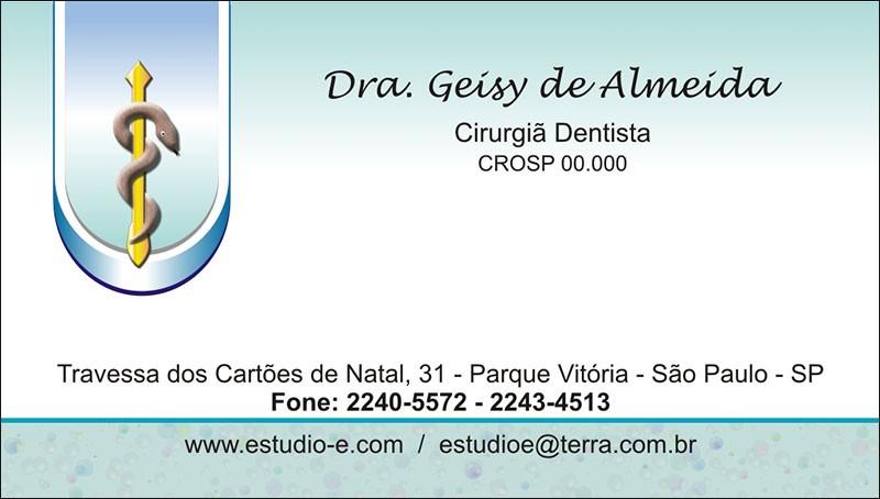Cartão de Visita com Verniz - Cod: 035