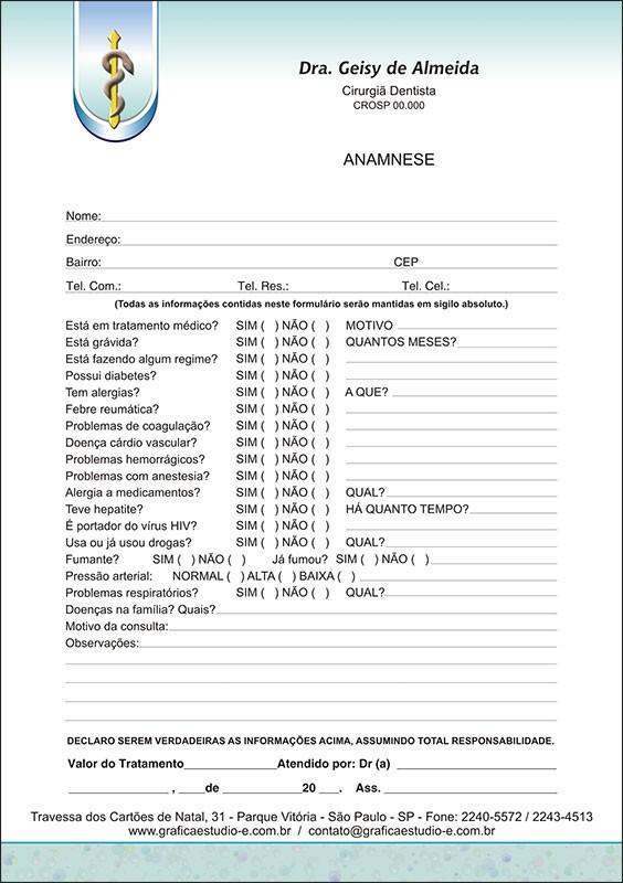 Anamnese Colorida - Cod: 035
