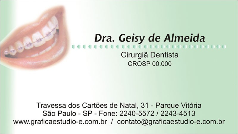 Cartão de Visita com Verniz - Cod: 038