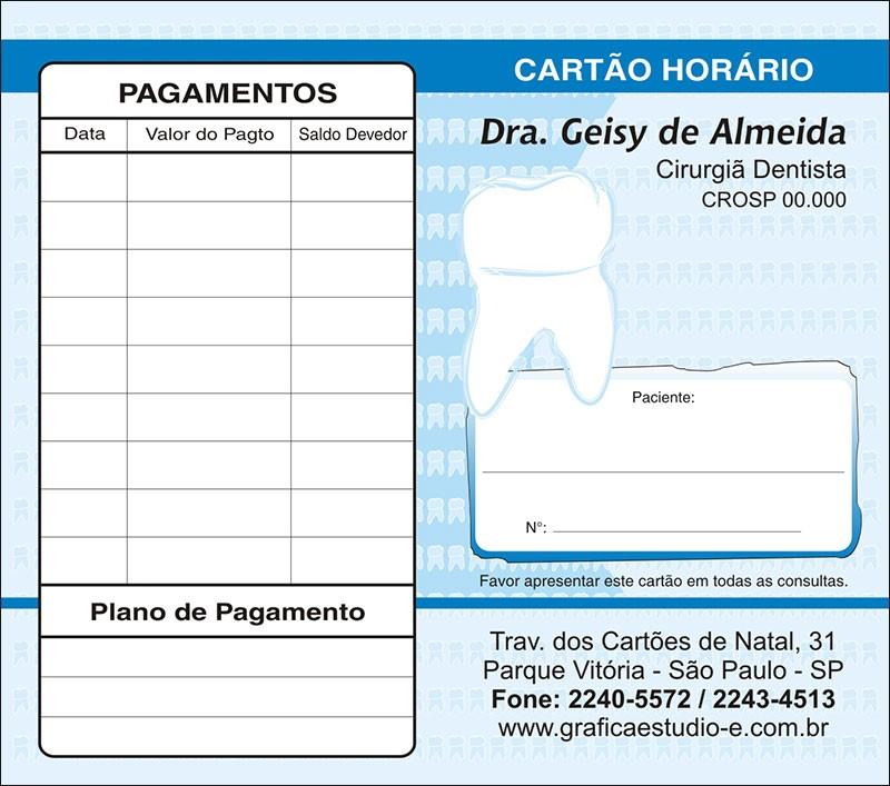 Carteirinha de Próxima Consulta e Pagamento Personalizado - Cod: 045
