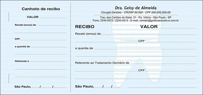 Recibo com Canhoto Colorido - Cod: 045