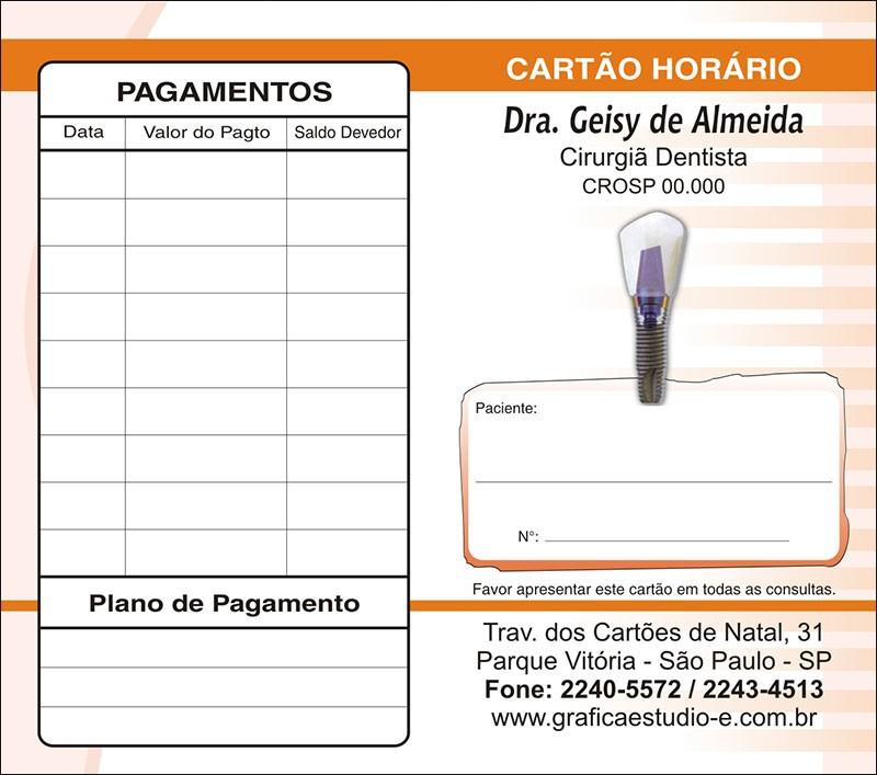 Carteirinha de Próxima Consulta e Pagamento Personalizado - Cod: 050