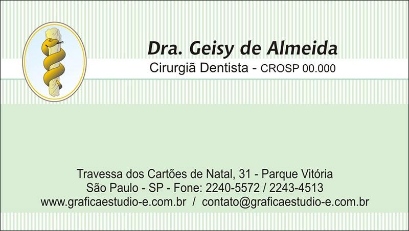 Cartão de Visita com Verniz - Cod: 051