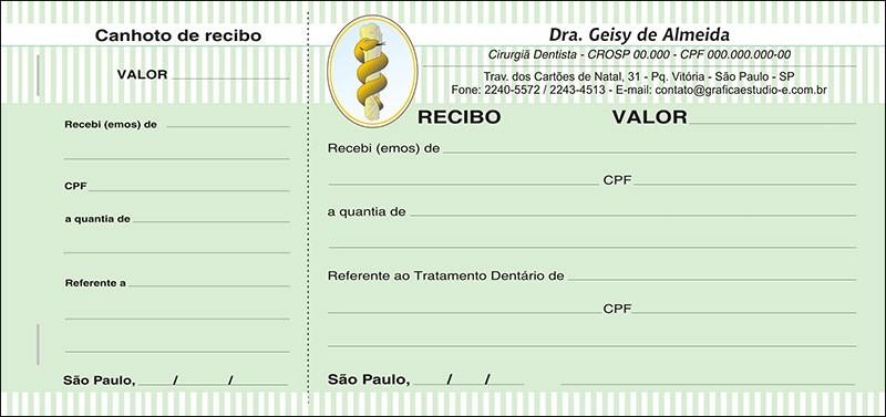 Recibo com Canhoto Colorido - Cod: 051