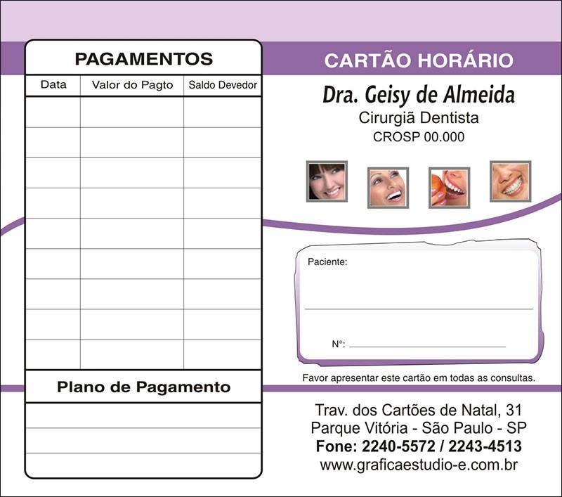 Carteirinha de Próxima Consulta e Pagamento Personalizado - Cod: 054