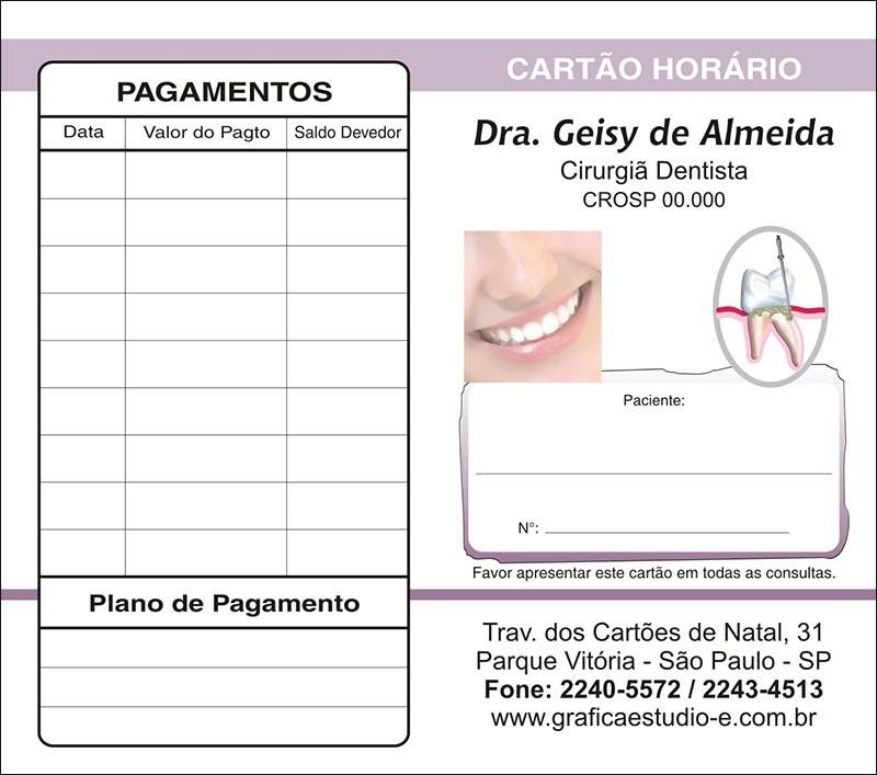 Carteirinha de Próxima Consulta e Pagamento Personalizado - Cod: 059