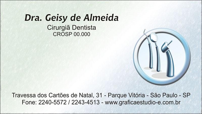 Cartão de Visita com Verniz - Cod: 060