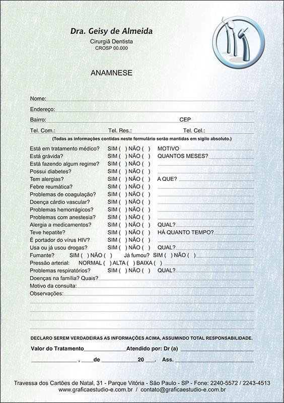 Anamnese Colorida - Cod: 060
