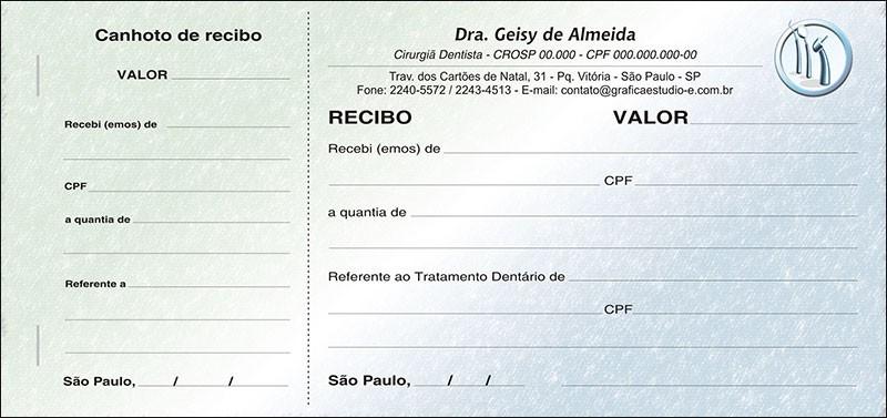 Recibo com Canhoto Colorido - Cod: 060