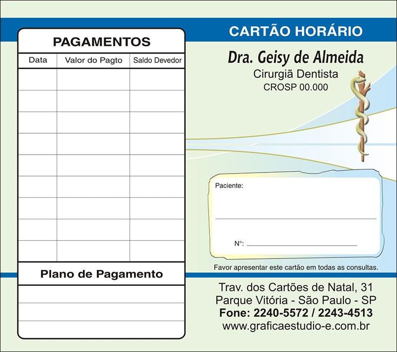 Carteirinha de Próxima Consulta e Pagamento Personalizado - Cod: 062