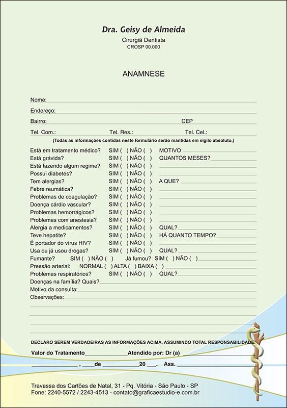 Anamnese Colorida - Cod: 062