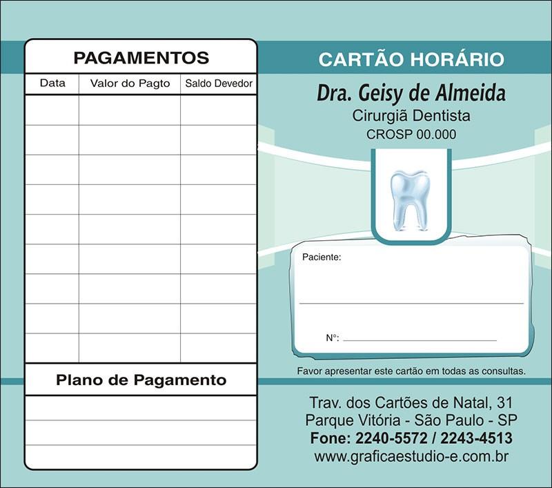 Carteirinha de Próxima Consulta e Pagamento Personalizado - Cod: 065