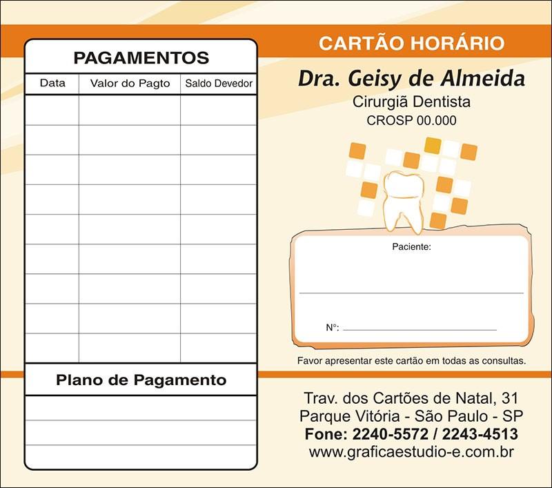 Carteirinha de Próxima Consulta e Pagamento Personalizado - Cod: 066