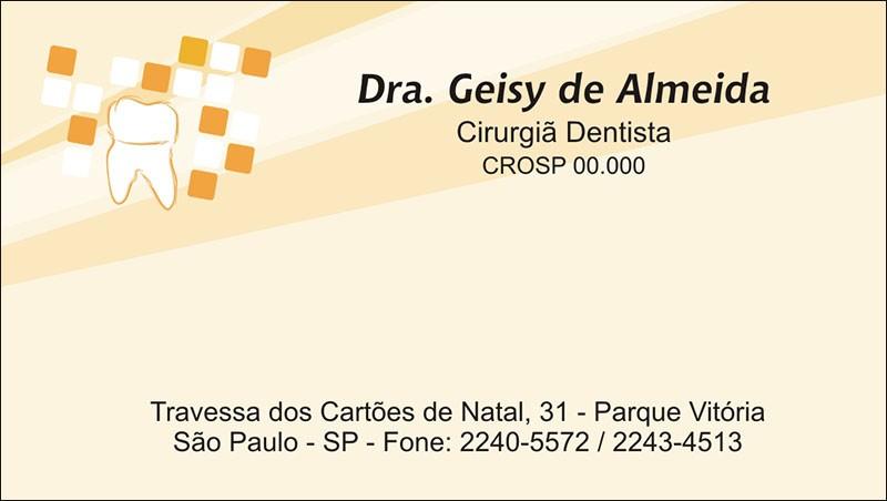 Cartão de Visita com Verniz - Cod: 066
