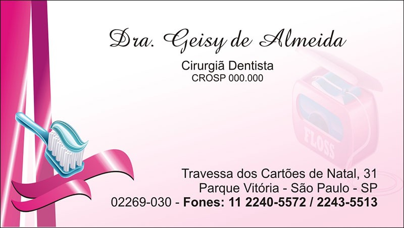 Cartão de Visita com Verniz - Cod: 067
