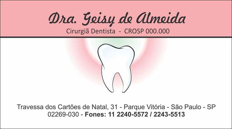 Cartão de Visita com Verniz - Cod: 068