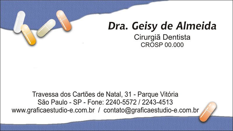 Cartão de Visita com Verniz - Cod: 105