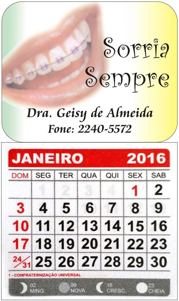 Imãs de Geladeira com Calendário e Faca Especial - BD 012