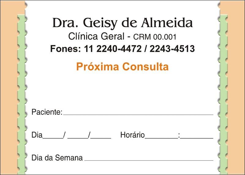 Blocos de Próxima Consulta para Médicos - Cod: M064