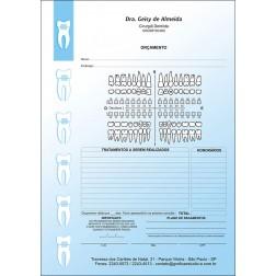 Orçamento Colorido - Modelo A - Cod: 004 Azul CB