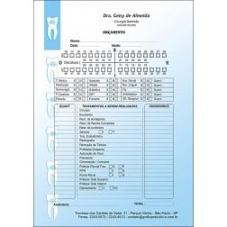 Orçamento Colorido - Modelo B - Cod: 004 Azul CB