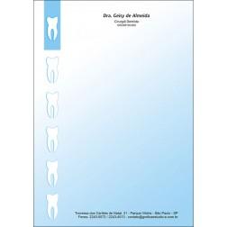 Receituário Colorido - Cod: 004 Azul CB