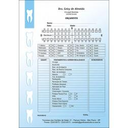 Orçamento Colorido - Modelo B - Cod: 004 Azul SB