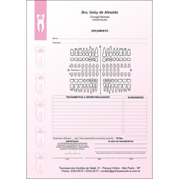 Orçamento Colorido - Modelo A - Cod: 004 Rosa CB