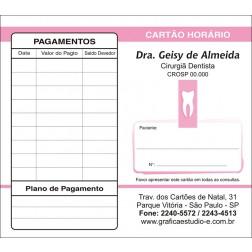 Carteirinha de Próxima Consulta e Pagamento Personalizado - Cod: 004 Rosa SB