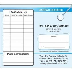 Carteirinha de Próxima Consulta e Pagamento Personalizado - Cod: 006
