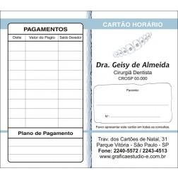 Carteirinha de Próxima Consulta e Pagamento Personalizado - Cod: 008