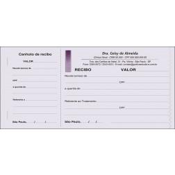 Recibo Médico com Canhoto Colorido - Cod: M010