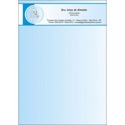Receituário Médico Colorido - Cod: M015 Azul