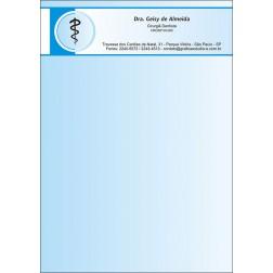 Receituário Colorido - Cod: 015 Azul