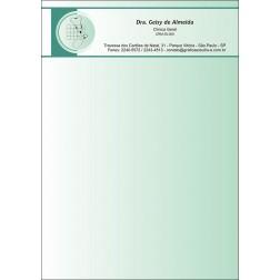 Receituário Médico Colorido - Cod: M015 Verde
