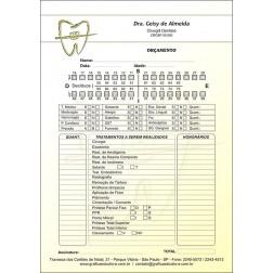 Orçamento Colorido - Modelo B - Cod: 021 Amarelo