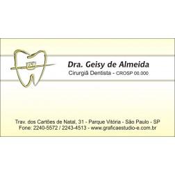 Cartão de Visita com Verniz - Cod: 021 Amarelo